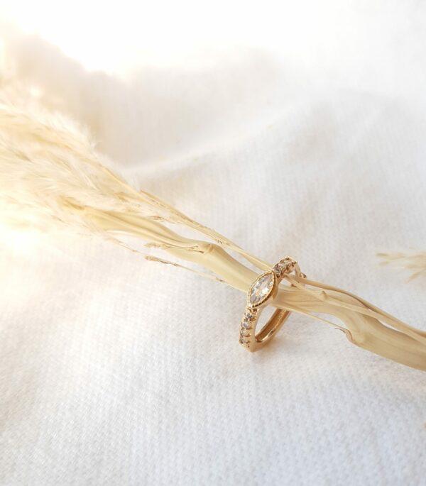 Boucles d'oreilles Prune mini créole