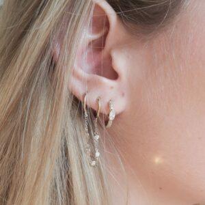 Boucles d'oreilles cerise mini créole